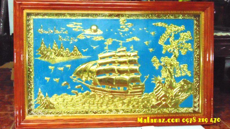 Tranh đồng phong thủy - Tranh thuận buồm - KT 71 x 110cm - DTB22A