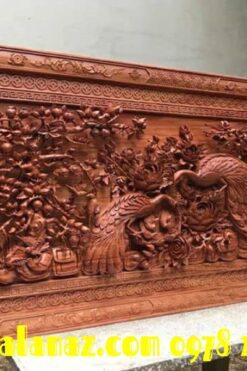 tranh gỗ cao cấp - phu thê viên mãn 83 x 1m75 x 9