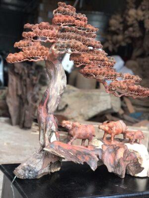 Tượng-gỗ-mỹ-nghệ-Cảnh-đồng-quê-NP01A