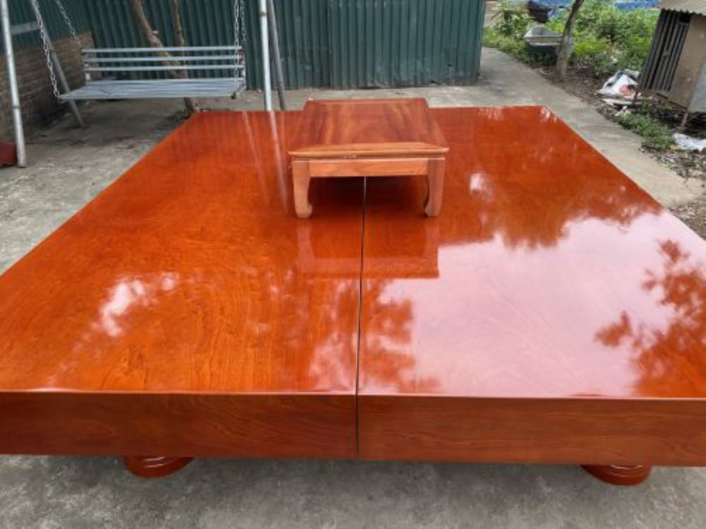 Sập gỗ xoan đào - 220x240x20 - BA 01