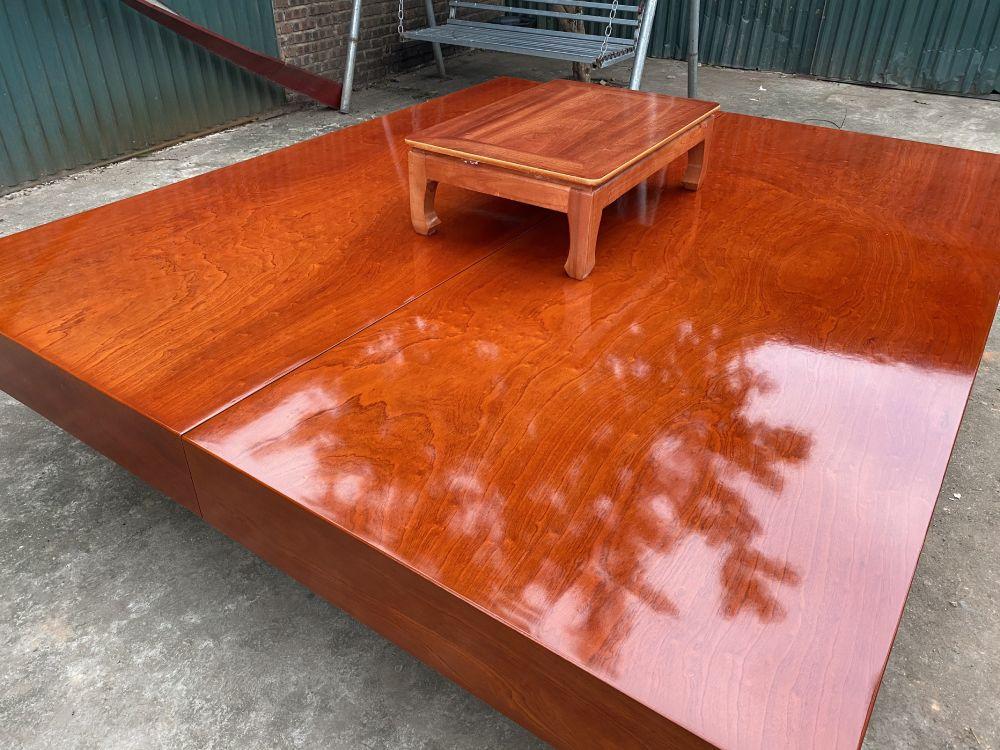 Sập gỗ xoan đào - 220x240x20 - BA 01 - Malanaz Shopping