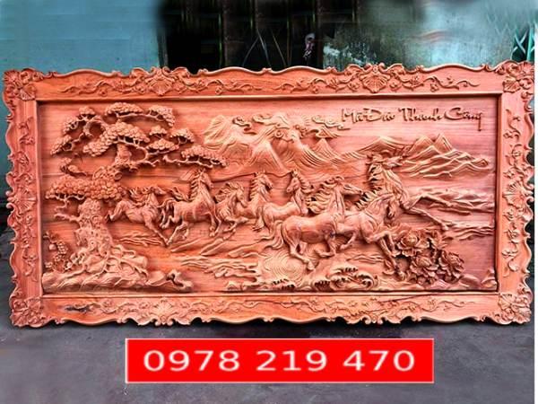 Tranh gỗ Mã đáo - 237x117x6.5cm - 03