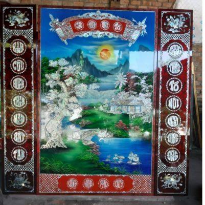 Tranh sơn mài việt nam - tranh sơn mài thờ cúng - MD34