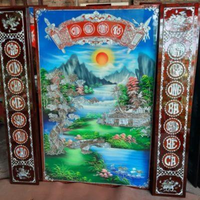 Tranh thờ Curu huyền thất tổ - Tranh sơn mài - MD33A