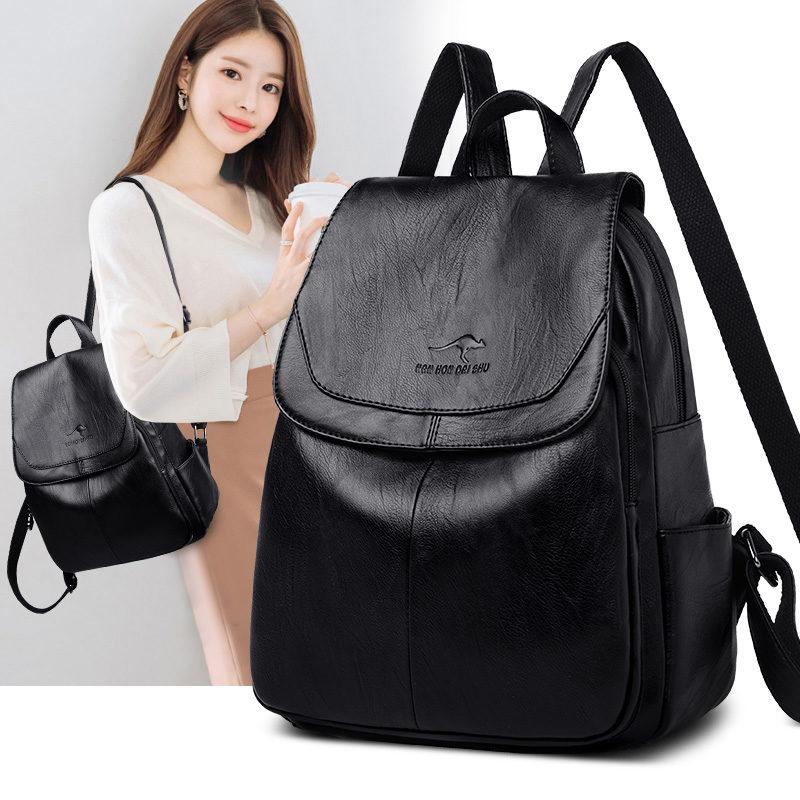 Ba lô da nữ chính hãng , thời trang Hàn Quốc, du lịch nước ngoài da mềm ba lô nữ - TX94H