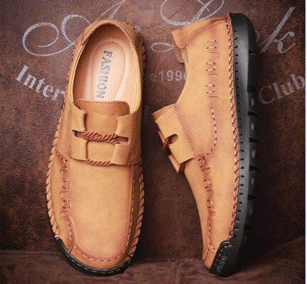 Cỡ Lớn Cho Nam Giày Kiểu Anh Giản Dị Thời Trang Giày Nam Kinh Doanh Giày Giản Dị Giày Da Thủ Công Cỡ - GD89B