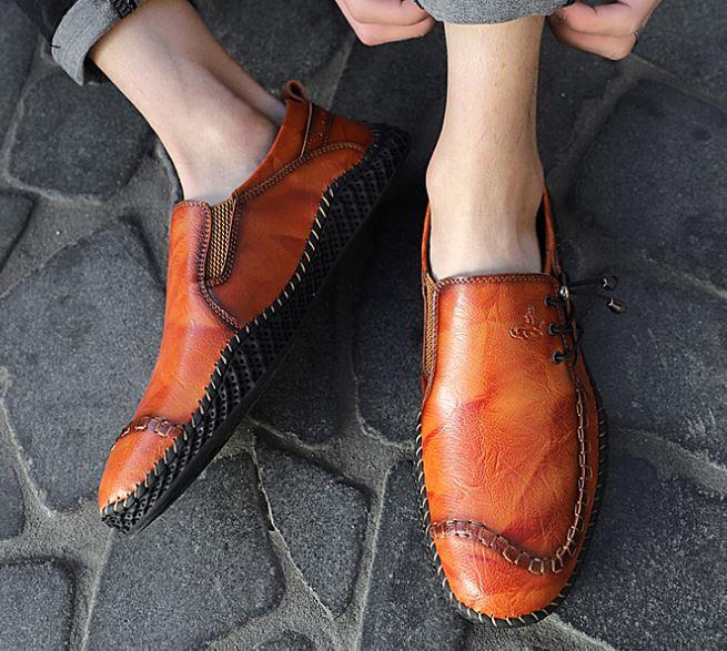 Giày Nam Mới - Giày Thời Trang Anh, Giày Da, Giày Thường Ngày Làm Bằng Tay, Đế Mềm Cho Nam, Giày Đơn Chống Mòn - GD90 -03