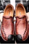 Giày Da, Giày Thường Ngày Mới Cho Nam, Giày Mọi Xu Hướng Hè ,Da Bò Nam, Giày Nam Kích Thước Lớn - GD76B