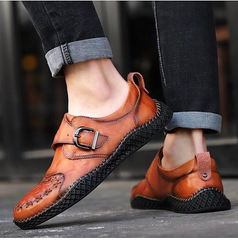 Giày Da Nam - Giày Thủ Công Cỡ Lớn - Giày Da, Giày Nam, Giày Phổ Biến - GD87C