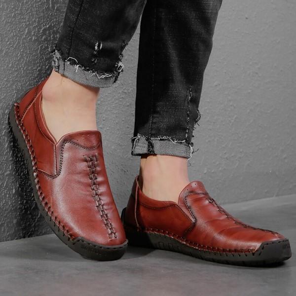 Giày Nam Da Thật Giày Nam Thoải Mái Giày Thông Thường Giày Đế Bằng Thoáng Khí Nhẹ Giày Da Nam Giày Cỡ Lớn 38-48 - GD69D