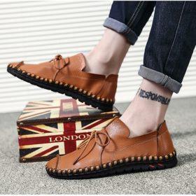 Giày da bò - giày lười nam nhập khẩu - GD72C