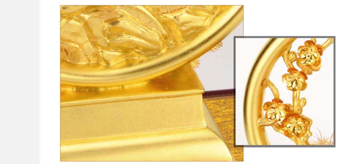 3D Vàng Phượng Hoàng - Trang Trí Vàng 24K- Trang Trí Lễ Cưới Sang Trọng - Trang Trí Thủ Công Trang Trí Nhà Quà Tặng Đám Cưới - QLN23A