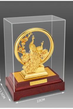 3D Vàng Phượng Hoàng - Trang Trí Vàng 24K- Trang Trí Lễ Cưới Sang Trọng - Trang Trí Thủ Công Trang Trí Nhà Quà Tặng Đám Cưới - QLN23QS