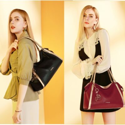 Leather Handbags for Women, Genuine Leather Ladies Top-handle Shoulder Bags - (1)