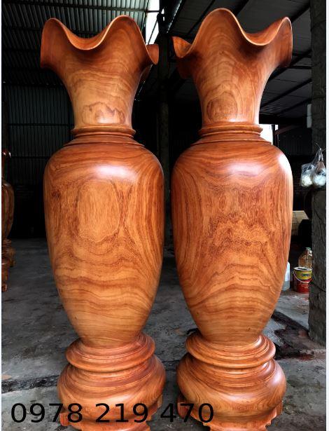 Luc bình gỗ hương VIP - KT230x65cm - VQ02