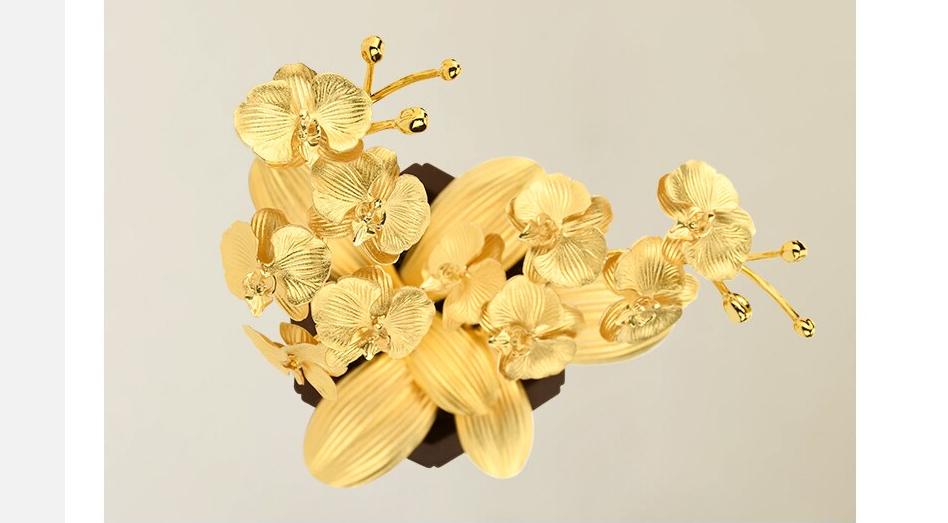 Quà lưu niệm tặng khách hàng - Hoa lan vàng - QLN14A