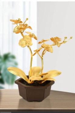 Quà lưuH niệm tặng khách hàng - Hoa lan vàng - QLN14C