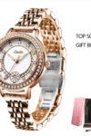 SUNKTA Đồng Hồ Nữ Thể Thao Thời Trang Đồng Hồ Nữ Dây Thép Không Gỉ Không Thấm Nước Kim Cương Đồng Hồ Đeo Tay Thạch Anh Reloj Mujer - DHN04R