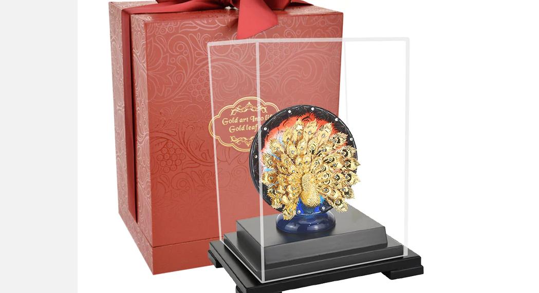Tặng quà đối tác - 3D Vàng Phượng Hoàng - Vật Trang Trí Tượng Vàng 24K Trang Trí Thủ Công - Trang Trí Nhà Văn Phòng Busniess Quà Tặng - QLN24