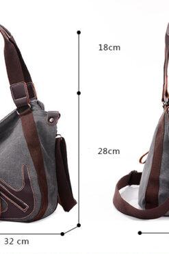 Thời trang Canvas Nữ Túi Xách Slit Pocket Shoulder Bags Big Giản Dị - TX159R (2)