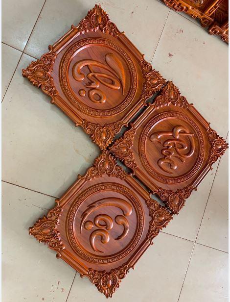 Tranh gỗ chữ phúc - 45x45x3cm - AC07A
