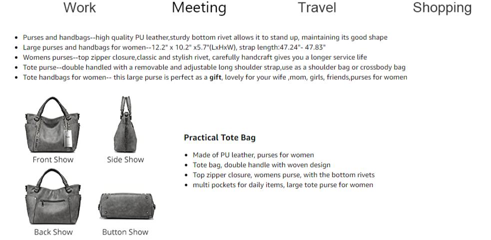 Túi xách nữ thời trang - túi xách công sở - túi xách size lớn - TX170G