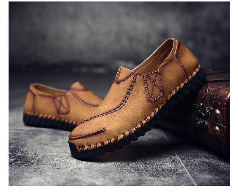 Giày nam mới mùa hè, giày thời thượng, giày nam hoang dã, giày da nam thời trang sành điệu, giày tây nam phiên bản hàn quốc, trẻ trung sành điệu - GD98 (17)