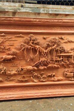 Tranh gỗ đồng quê VIP Đục tay