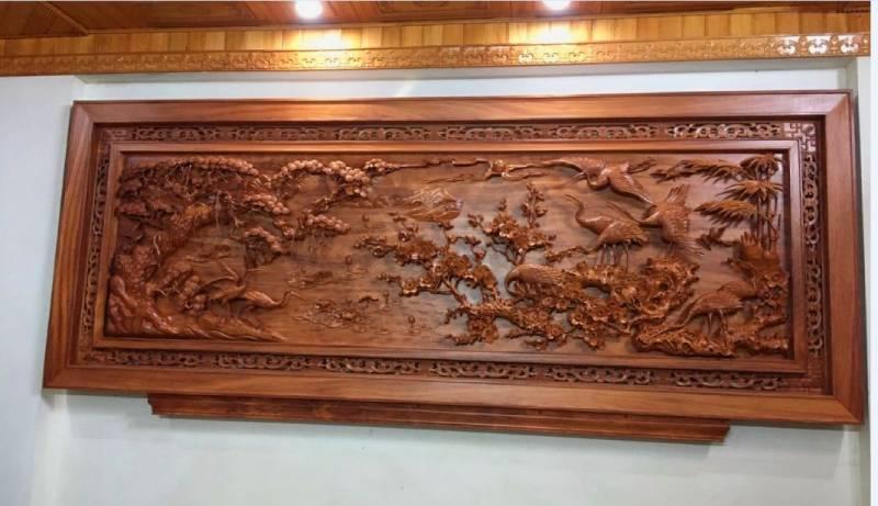 Tranh gỗ mỹ nghệ - kích thước 117 x 237 x 8cm (2)