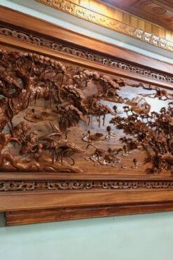 Tranh gỗ mỹ nghệ - kích thước 117 x 237 x 8cm cao cấp