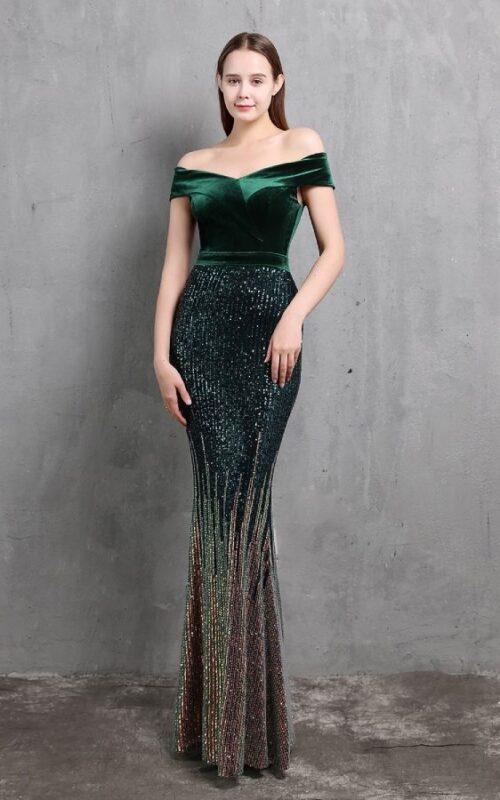 최신 모델 이브닝 드레스