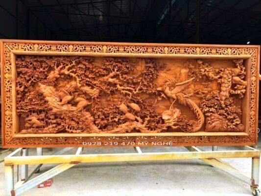 Tranh gỗ treo phòng khách - Lòng Tranh Gỗ Nhân Tạo Tạo - Khung Gỗ Hương - NT10